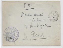 1932 - MAROC - ENVELOPPE FM De L'HOPITAL De MEKNES => PARIS - Storia Postale