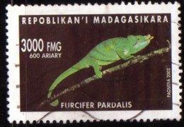 Madagascar 2002 Caméléon Furcifer Pardalis / Reptile / Animaux / Chameleon / Animaux N° 1831 Oblitéré Used - Madagascar (1960-...)