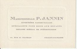 Infirmière Garde-malade à Chalon Sur Saone 71 - 1930 Env - Visitekaartjes
