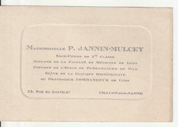 Sage Femme De 1ère Classe à Chalon Sur Saone 71 - 1930 Env - Visitekaartjes