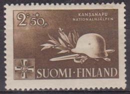Secours D'hiver - FINLANDE - Casque, épée - N° 269 * - 1943 - Finland