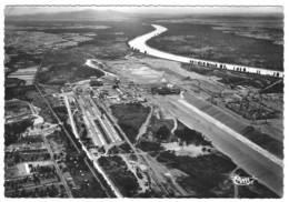 68 HAUT RHIN Vue Aérienne Du Barrage Et Chantier De L'Usine De FESSENHEIM Sur Le Rhin - Fessenheim