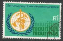 Mauritius. 1973 25th Anniv Of WHO. 1r Used. SG 468 - Mauritius (1968-...)