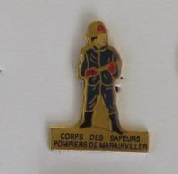 1 Pin's Sapeurs Pompiers De MARAIVILLER (MEURTHE ET MOSELLE - 54) - Brandweerman