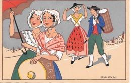 25/16        Illustrateur   HENRI  PERTUS     Vieux Marseille   Tetour De La Fete Provençale. - Illustratori & Fotografie