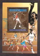 Bloc Or Et Multicolore - Neuf ** - Lancé Du Poids - Jeux Olympiques Los Angeles 1984 - Centrafricaine - Sommer 1984: Los Angeles