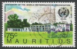 Mauritius. 1973 Centenary  Of IMO/WMO.75c Used. SG 469 - Mauritius (1968-...)