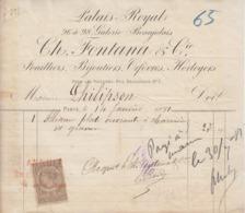 ** Ch. FONTANA & C.- PARIS.- 1881.-** - 1800 – 1899