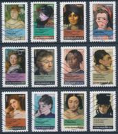 France - Femmes Dans La Peinture YT A674-A685 Obl. Ondulations - Luchtpost