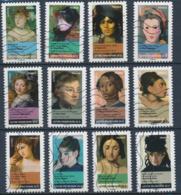 France - Femmes Dans La Peinture YT A674-A685 Obl. Ondulations - Adhésifs (autocollants)