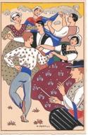 25/16        Illustrateur   HENRI  PERTUS     Au Pais De Prouvenço   La Farandou Io. - Illustrateurs & Photographes