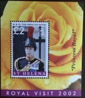St Helena 2002 Royal Visit Minisheet MNH - St. Helena