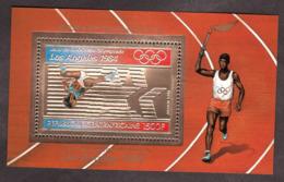 Bloc Or Et Multicolore - Neuf ** - Athlétisme - JO De Los Angeles - 1984 - Centrafricaine - Sommer 1984: Los Angeles