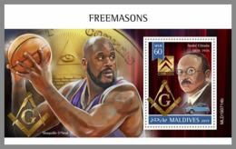 Citroen O'Neal MALDIVES Franc-maçonnerie SHEET MINT MNH ** MASONIC FREEMASONRY - Freimaurerei