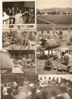 Lot De 20 Photographies Du Guipuzkoa, Zarauz / Zarautz, Camp De Vacances 1964, Camping, Foto Martin - Lugares
