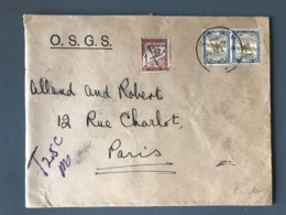France Taxe N°40 (1fr) Sur Lettre Du Soudan Pour Paris - (B2402) - Poststempel (Briefe)