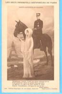 Militaria-Guerre 1914-1918-Sainte-Geneviève Et Galliéni-les 2 Immortels Défenseurs De Paris-écrite En 1915-voir Texte - Patriotiques