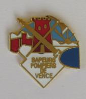 1 Pin's Sapeurs Pompiers De VENCE (ALPES MARITIMES - 06) - Pompiers