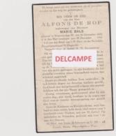 DOODSPRENTJE DE ROP ALFONS WEDUWNAAR BALS NIEUWKERKEN - WAAS 1855 - 1940  BEWERKT TEGEN KOPIEREN - Images Religieuses