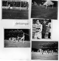 5 Photos Authentiques - FOOTBALL - Match LAVAL - REIMS -  Carlos BIANCHI -  VERGNES - Sports