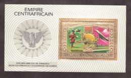Bloc Or Et Multicolore - Neuf ** - 100 Ans De Progrès - Transports - UPU - 1974 - Centrafricaine - UPU (Universal Postal Union)