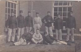 252640Groep Militairen. (poststempel 1907)(FOTO KAART) - Personen