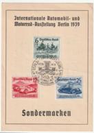 CARTE MAXIMUM - DEUTSCHES REICH - Internationale Automobil-und Motorrad-Ausftellung Berlin 1939 (17/02/1939) - Allemagne