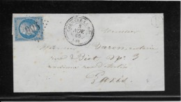 France N°22 Oblitéré GC 995 & Type 24 Cheméré Le Roi (51) 1866 - B/TB - 1862 Napoleon III