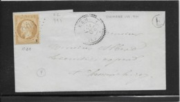 France N°21 Oblitéré GC 995 & Type 24 Cheméré Le Roi (51) 1866 - B/TB - 1862 Napoleon III