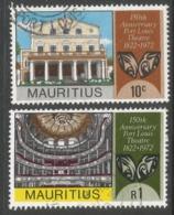 Mauritius. 1972 159th Anniv Of Port Louis Theatre. Used Complete Set. SG 457-458 - Mauritius (1968-...)
