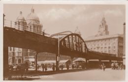 RP: LIVERPOOL , Lancashire , England , 1910-30s ; Overhead Railway - Liverpool