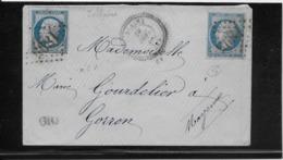 France N°22 X2 Oblitérés GC 1895 & Type 24 Jublains (51) - TB - 1862 Napoleon III