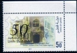 Qatar 2011 Doha / Golden Jubilee First Postal Agency / Architecture / Umm Said N° 1390 MNH Neuf - Qatar