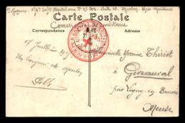 CACHET HOPITAL AUXILIAIRE N°205 MENTON (ALPES-MARTIMES) - Marcophilie (Lettres)