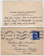 VP16.050 - CDV - Carte De Visite - L'Abbé Fernand BRIDOUX Chanoine Honoraire Curé - Doyen De Notre - Dame De MELUN - Visitekaartjes