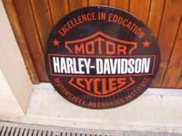Plaque émaillée Harley Davidson - Plaques Publicitaires