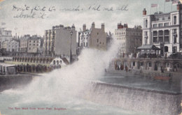 Brighton (Angleterre) - The Sea Wall From West Pier - Brighton
