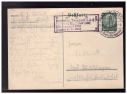 Dt- Reich (008527) Propaganda Ganzsache Mit HJ Lagerstempel Deutsches Jungvolk Der HJ, Jungbann, Sommerlager 1939, Gel - Allemagne