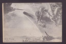 CPA Squelette Diable Devil Krampus Comète De Halley Non Circulé Tour Eiffel - Astronomie