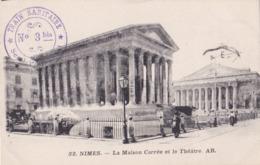 Cachet Train Sanitaire No 3 Bis Semi Permanent Sur Carte Postale De 1915 - Oorlog 1914-18