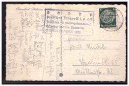 Dt- Reich (008528) Propaganda AK Lubmin Mit HJ Lagerstempel Deutsches Jungvolk Der HJ, Jungbann 6, Sommerlager 1936, Gel - Allemagne