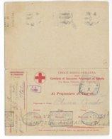 """1918 - CP CROIX-ROUGE """"PRISONNIERS DE GUERRE"""" ITALIENNE Avec REPONSE - ECRITE EN FRANCAIS => AUTRICHE - RED CROSS - Marcophilie (Lettres)"""