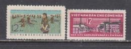 Vietnam Nord 1963 - 1st Five-year Plan, Mi-Nr. 249/50, MNH** - Vietnam