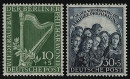 Berlin 1950 - Mi-Nr. 72-73 ** - MNH - BPP-Signatur - Philharmonie (III) - [5] Berlino
