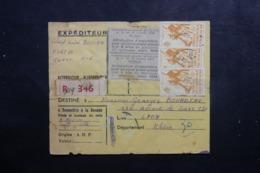 A.O.F. - Bulletin De Colis Postal  ( Café ) De Dakar Pour Lyon , Affranchissement Plaisant - L 46420 - Lettres & Documents