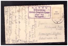 Dt- Reich (008530) Propaganda AK Rot, Mit HJ Lagerstempel Lager Rot Bei Leutkirch, Gelaufen Marke Fehlt - Allemagne