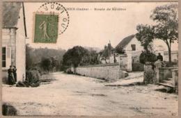 36 / OULCHES (Indre) - Route De Bélâbre (animée - Tampons 1919-1920) - France