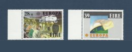 Irlande Ireland 1988 Yvert 653/654 ** Europa 1988  Transport Et Communications Airbus A320  Mappemonde - 1988