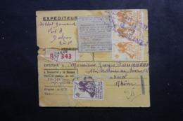 A.O.F. - Bulletin De Colis Postal  ( Café ) De Dakar Pour Lyon , Affranchissement Plaisant - L 46421 - Lettres & Documents