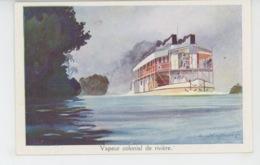 BATEAUX - LIGUE MARITIME ET COLONIALE - Vapeur Colonial De Rivière - Illustrée Par L. HAFFNER - Ships